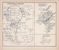 Greenville & Mason, Greenville Town, Greenville East, New Hampshire State Atlas 1892 Uncolored